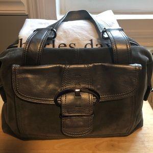 Charles David suede handbag
